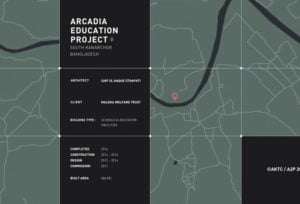 Location of Arcadia Education Project