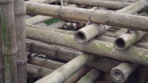 The School is Built with bamboo, used tyres and 136-litre steel drums