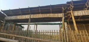 Bamboo Made Rooftop Structure, Arcadia Education Project