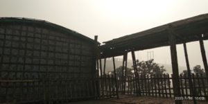 Bamboo Made Wall and Roof of Arcadia Education Project